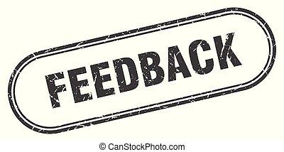 feedback stamp. feedback square grunge sign. feedback