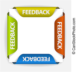 Feedback stickers - Feedback Labels / Stickers on the edge...