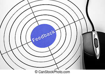 Feedback target and pc mouse