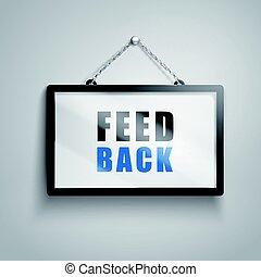 feedback text sign