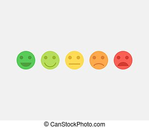 Feedback vector concept emoji faces