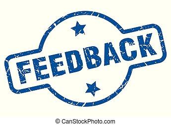 feedback vintage stamp. feedback sign