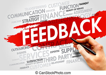 FEEDBACK word cloud, business concept