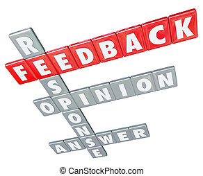 Feedback Word Letter Tiles Response Opinion Answer Rating - ...