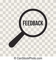 Feedback Word Magnifying Glass