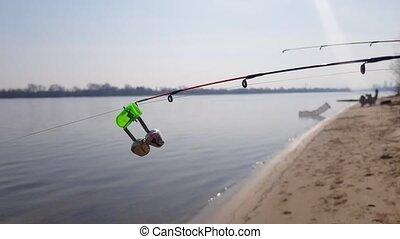 Feeder fishing. Bite alarm. Feeder Rod Part