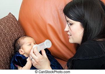 Feeding a Newborn Baby