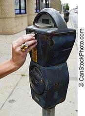 Feeding the parking meter