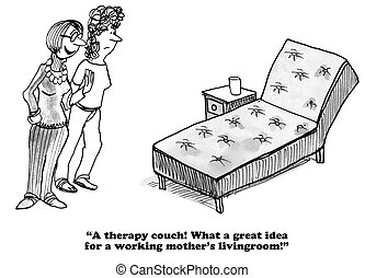 Feeling guilty about work cartoon - Business cartoon about a...