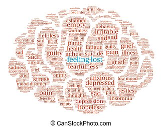 Feeling Lost Brain Word Cloud - Feeling Lost Brain word ...