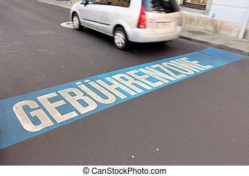 fees for parking zone - austria, linz, charging zone in...
