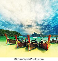feestdagen, strand, paradijs