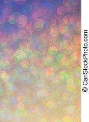 feestelijk, abstract, twinkled, helder, christmas lights, bokeh, defocused, achtergrond, concept.