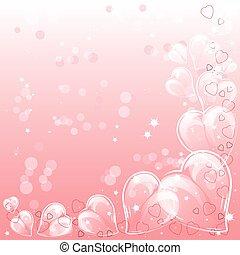 feestelijk, achtergrond, met, hartjes, op, valentine, day., februari 14, -, dag, voor, alles, minnaars