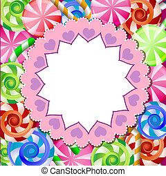 feestelijk, achtergrond, met, kleurrijke