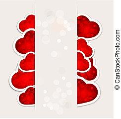 feestelijk, achtergrond, valentine