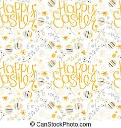 feestelijk, lente, pattern., seamless, textuur, frase,...