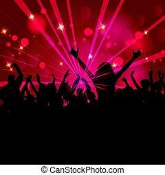feestje, 1105, menigte