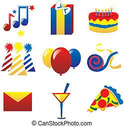 feestje, 2, iconen