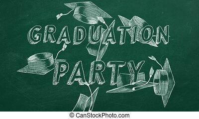 feestje, afgestudeerd