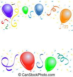 feestje, ballons, grens