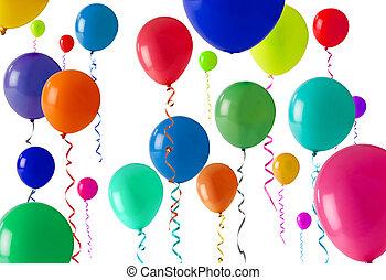 feestje, balloon, achtergrond