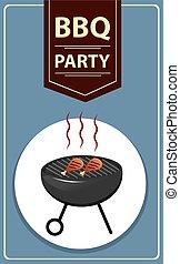 feestje, bbq, grill