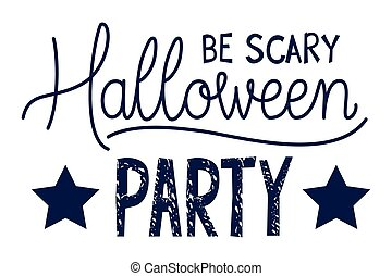 feestje, boodschap, halloween, kalligrafie, viering