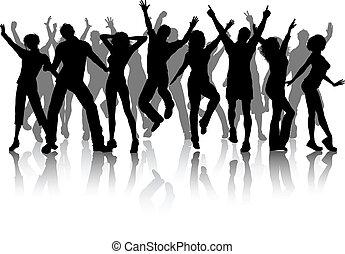 feestje, groep, mensen