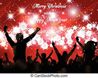 feestje, kerstmis, achtergrond