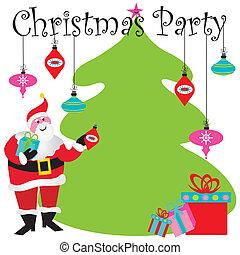 feestje, kerstmis, uitnodiging