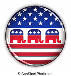 feestje, knoop, republikein