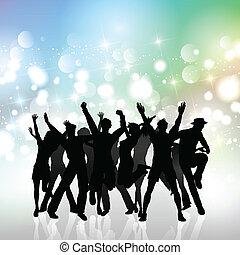 feestje, menigte