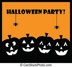 feestje, pompoennen, halloween
