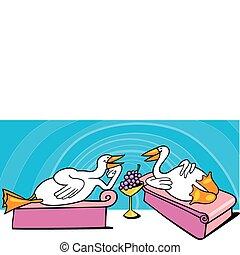 feestmaal, oud, geese, rome
