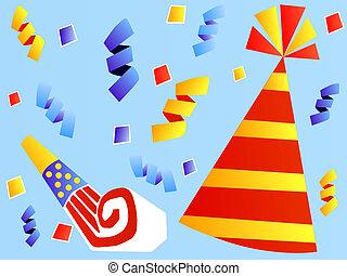feestmuts, kleurrijke, gunst