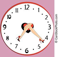 feet and clock
