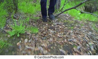 Feet and Legs of a Hiker in Southeast Asia - Video FullHD -...