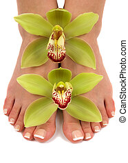 Feet and Orchids