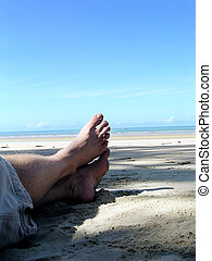 Feet by the Sea! - Feet relaxing by the sea.