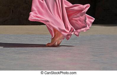 Feet fly