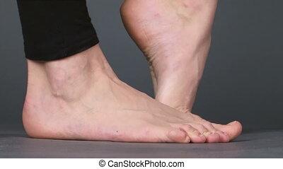 Feet girls - Legs girls in different positions. Warm feet.