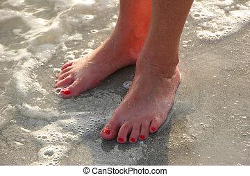 Feet in Ocean