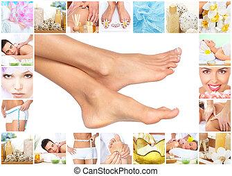 Feet massage.