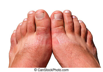 feet, na, biały, odizolowany
