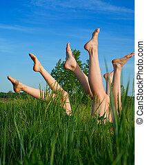 Feet of girls