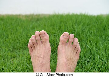 Feet on the green