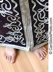feet, panieński, marokańczyk, garnitur