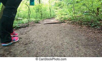 feet, pieszy, niski, długość mierzona w stopach, las, trail...