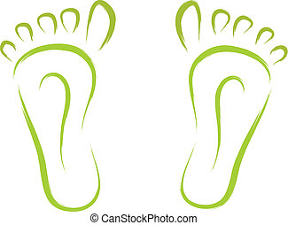 feet sketch - sketch of abstract feet tracks vector